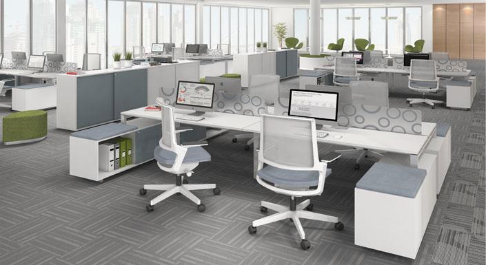 Giuliani mobiliario corporativo for Modulos de escritorio para oficina
